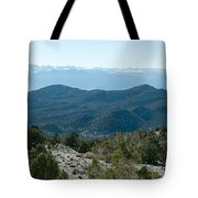 Mountain Range, White Mountains Tote Bag