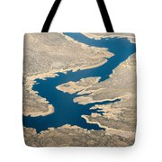 Mountain River From The Air Tote Bag