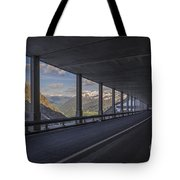 Mountain Road And Tunnel Tote Bag