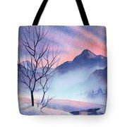 Mountain Silhouette Tote Bag