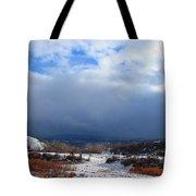 Mountain Snow Coming  Tote Bag