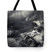 Mountain Storm Banff Tote Bag