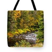 Mountain Stream In Autumn Tote Bag