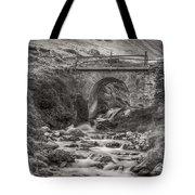 Mountain Stream With Bridge Tote Bag