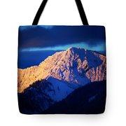Lizard Range Mountain Sunrise Tote Bag