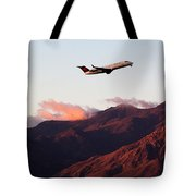 Mountain Takeoff Tote Bag