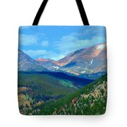 Mountain Top Color Tote Bag