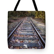 Mountain Tracks Tote Bag