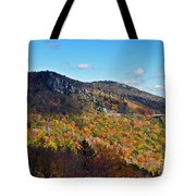 Mountain View From Linn Cove Viaduct Tote Bag