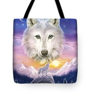 Mountain Wolf Tote Bag