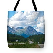 Mountains Along Cassiar Highway In Yt Tote Bag