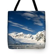 Mountains And Glaciers, Paradise Bay Tote Bag