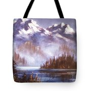 Mountains And Inlet Tote Bag