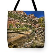 Mountains And Virgin River - Zion Tote Bag