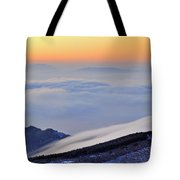 Mountains Clouds At Sunset Tote Bag