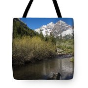 Mountains Co Maroon Bells 14 Tote Bag