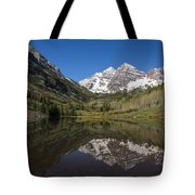 Mountains Co Maroon Bells 16 Tote Bag
