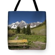 Mountains Co Maroon Bells 24 Tote Bag