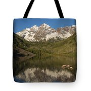 Mountains Co Maroon Bells 7 Tote Bag