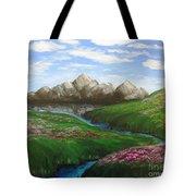 Mountains In Springtime Tote Bag