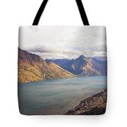 Mountains Meet Lake #5 Tote Bag
