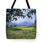 mountains near Yangshou and Guilin  Tote Bag