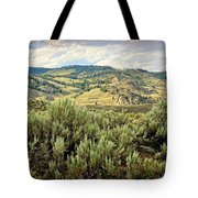 Mountains North Of The Lamar Tote Bag