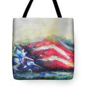 Mountains Of Freedom Tote Bag
