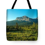 Mountains Of Many Glacier Tote Bag