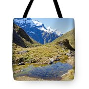 Mountains Of New Zealand Tote Bag
