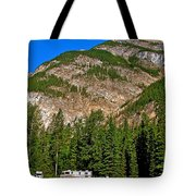Mountains West Of Kicking Horse Campground In Yoho Np-bc Tote Bag