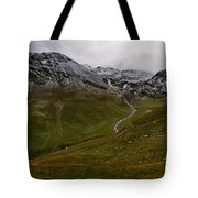 Mountainscape With Snow Tote Bag