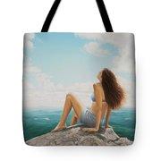 Mountaintop Meditation Tote Bag