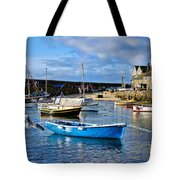 Mousehole Harbour Morning Tote Bag