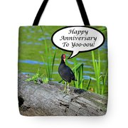 Mouthy Moorhen Anniversary Card Tote Bag