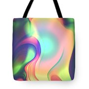 Movement Abstract Ink Digital Painting Tote Bag