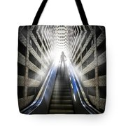 Move Into The Light Tote Bag