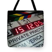 Movie Slate From Private Parctice Tote Bag