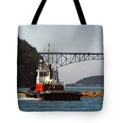 Moving The Logs Tote Bag