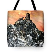 Mow Cop Castle Staffordshire Tote Bag