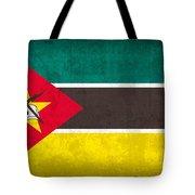 Mozambique Flag Vintage Distressed Finish Tote Bag