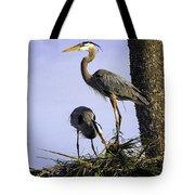 Mr. And Mrs. Heron Tote Bag