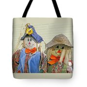 Mr And Mrs Scarecrow Tote Bag