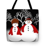 Mr And Mrs Snow 1 Tote Bag