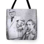 Mr Chicken And Mr Dickens Tote Bag