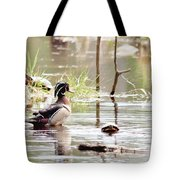 Mr. Wood Duck And Friends Tote Bag