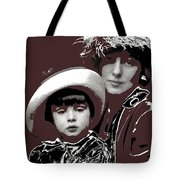 Mrs. Evelyn Nesbit Thaw And Son Arnold Genthe Photo New York 1913-2014 Tote Bag