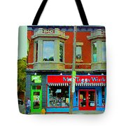 Mrs Tiggy Winkle's Toy Shop And Lost Marbles Richmond Rd The Glebe Paintings Ottawa Scenes C Spandau Tote Bag
