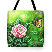 Ms. Monarch And Her Ladybug Friends Tote Bag