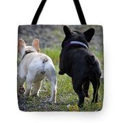 Ms. Quiggly And Buddy French Bulldogs Tote Bag